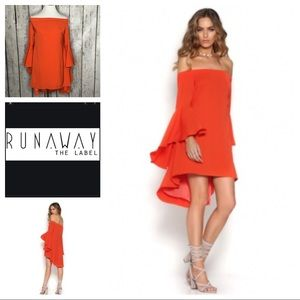 Runaway Lily off shoulder bell sleeve mini dress